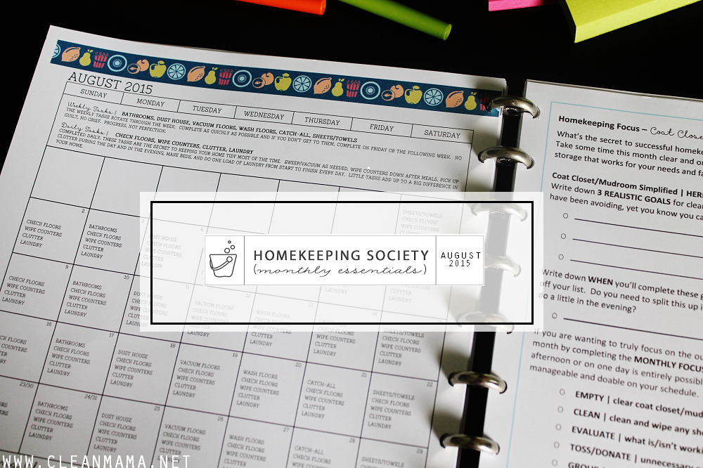 Main Image - August Homekeeping Society via Clean Mama