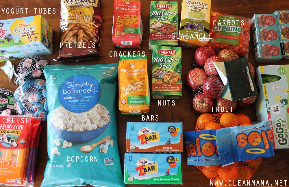 Snack and Lunch Ideas via Clean Mama