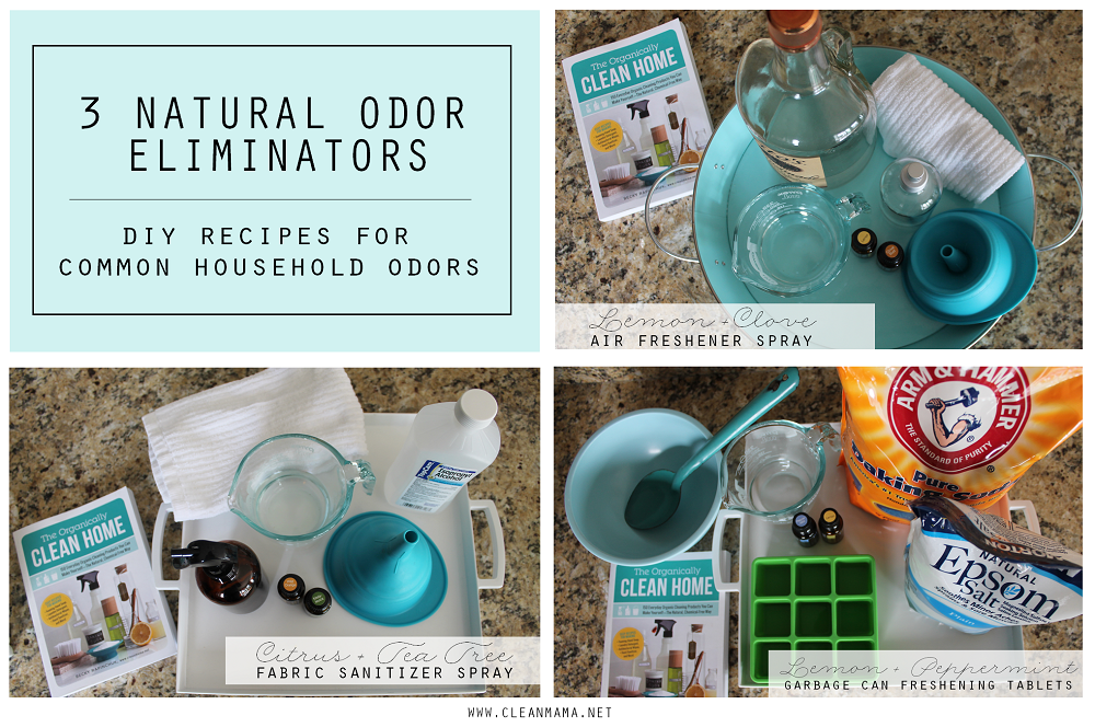 3 Natural Odor Eliminators - DIY Recipes for Common Household Odors main via Clean Mama