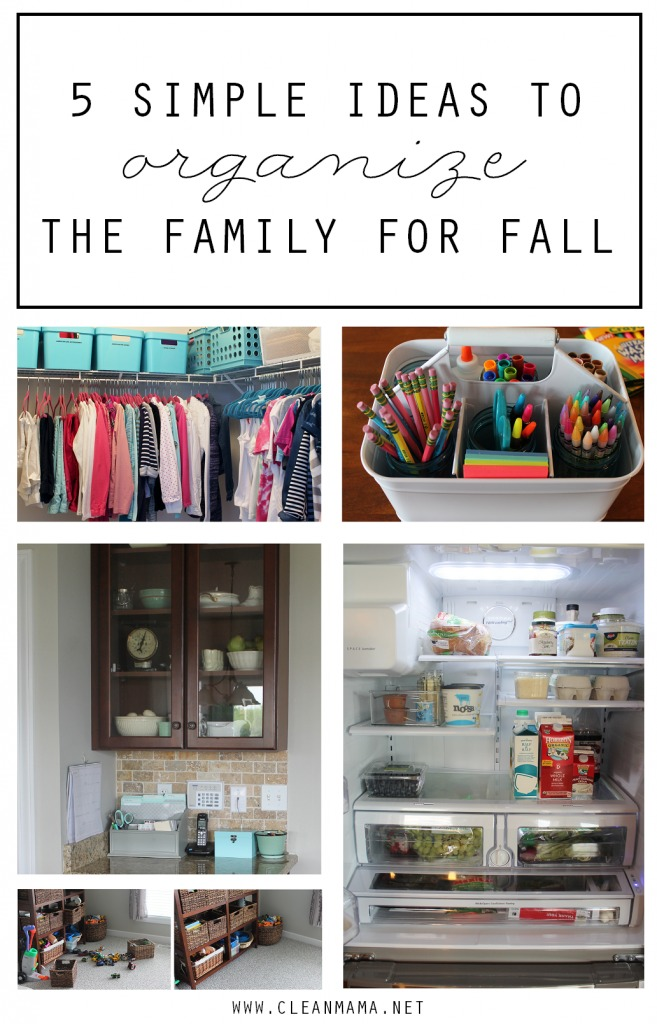 5 Simple Ideas to Organize the Family For Fall via Clean Mama
