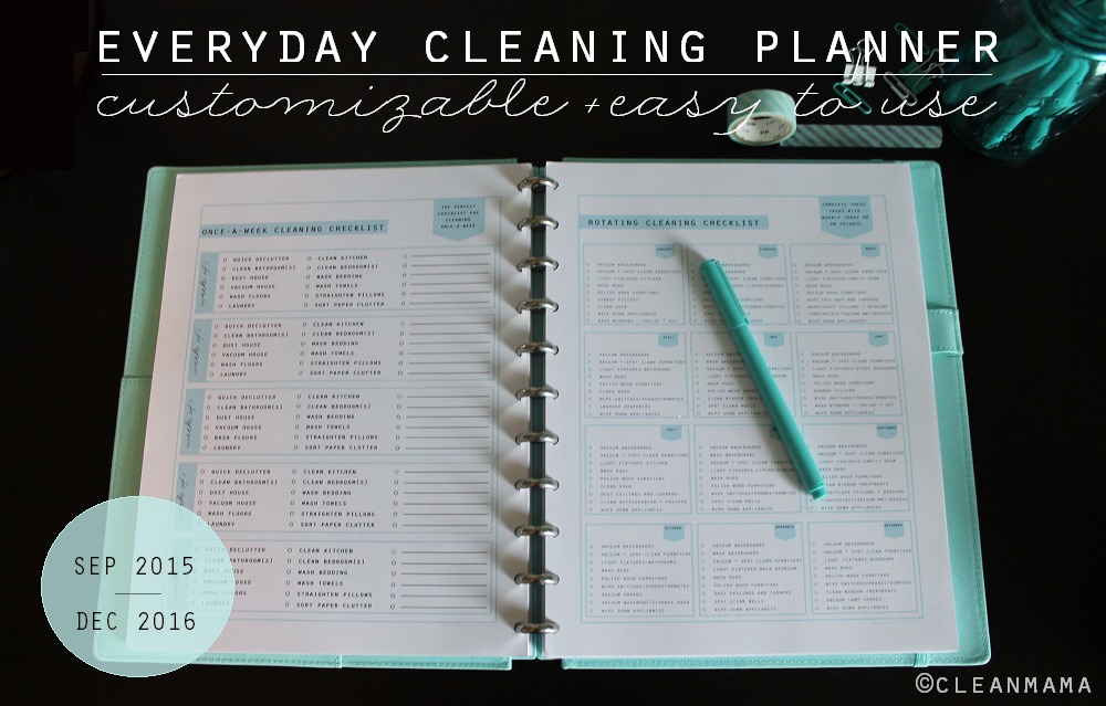 Everyday Cleaning Planner Sept2015-Dec2016 - Clean Mama