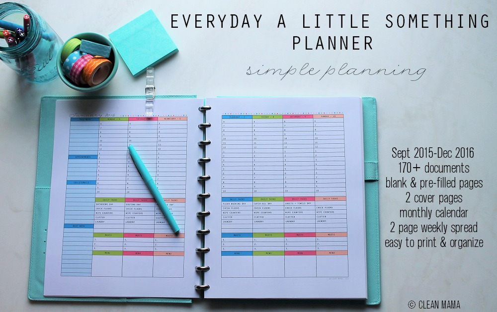 Everyday a Little Something Planner - main - Clean Mama