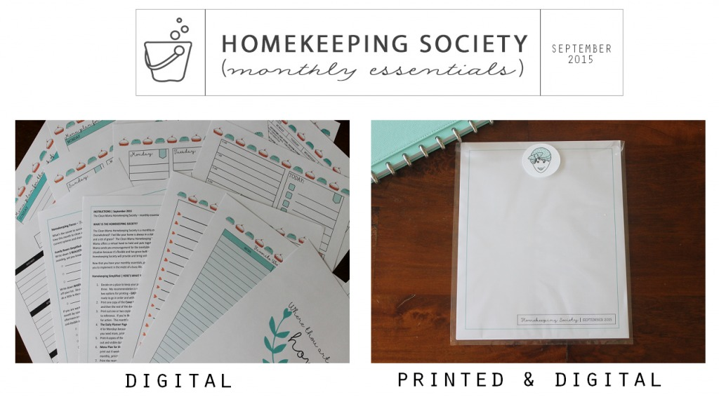 Homekeeping Society September 2015 Digital and Printed for You via Clean Mama