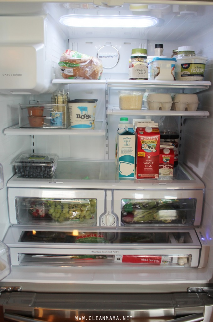 How to Clean and Organize Your Refrigerator via Clean Mama