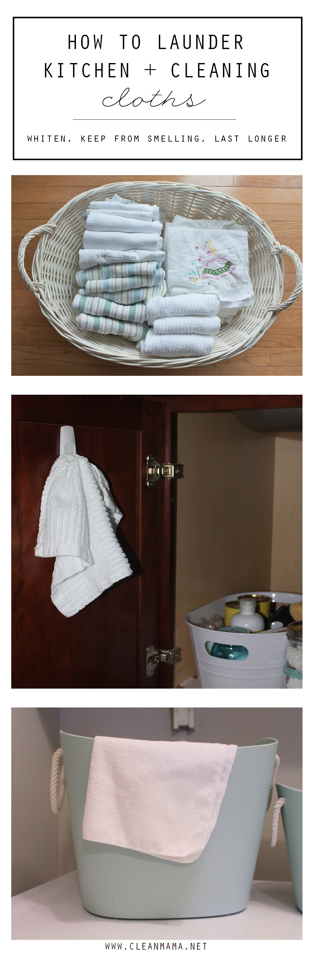 How to Launder Kitchen and Cleaning Cloths via Clean Mama