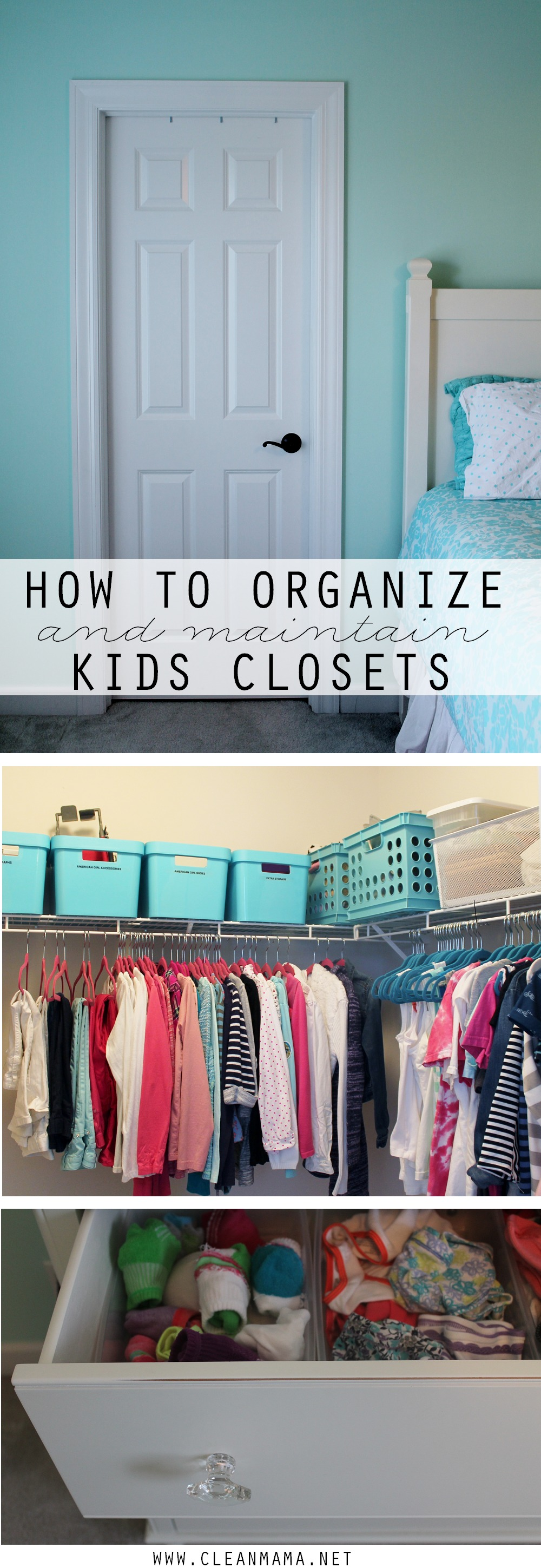 How to Organize and Maintain Kids Closets via Clean Mama