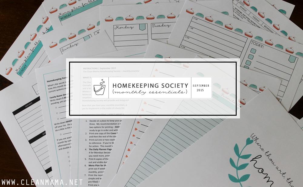 Main Image - September Homekeeping Society via Clean Mama