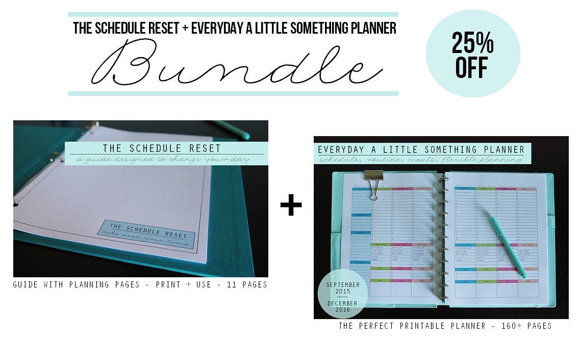 Schedule Reset + Planner Bundle 2 via Clean Mama