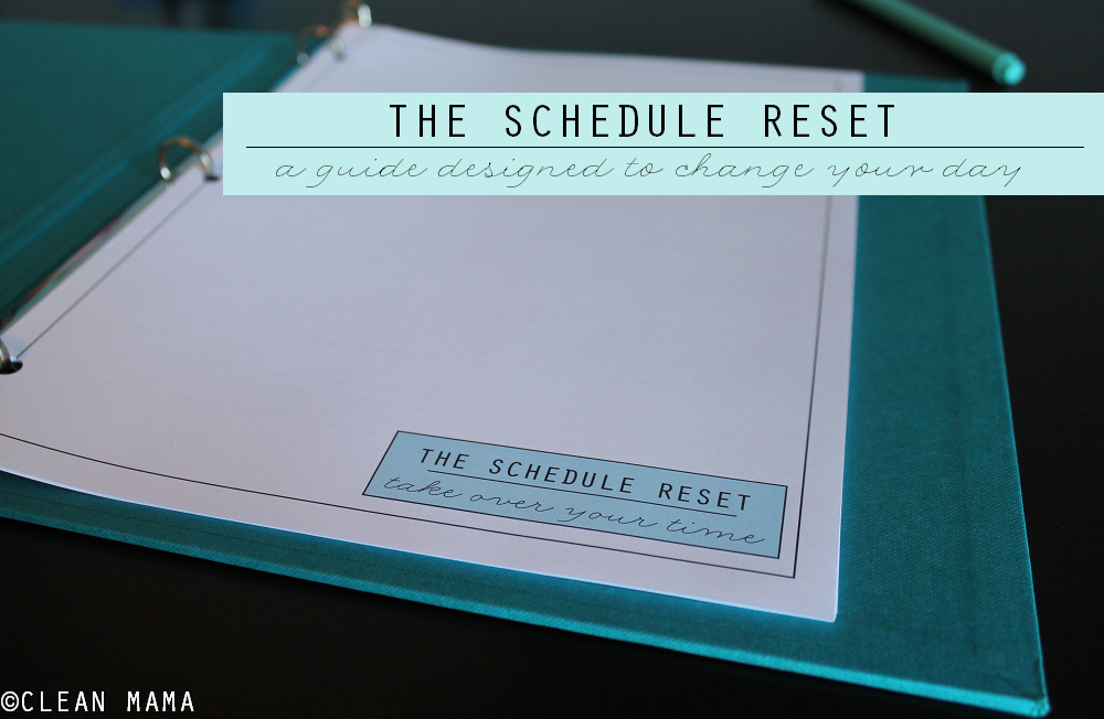 Schedule Reset main via Clean Mama