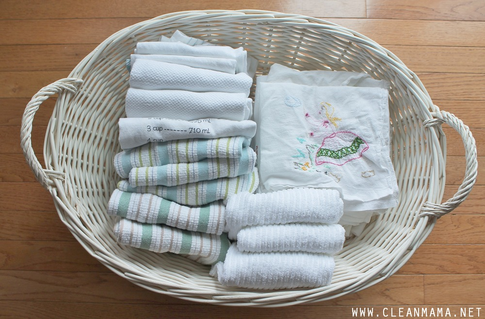 how to launder kitchen + cleaning cloths - clean mama