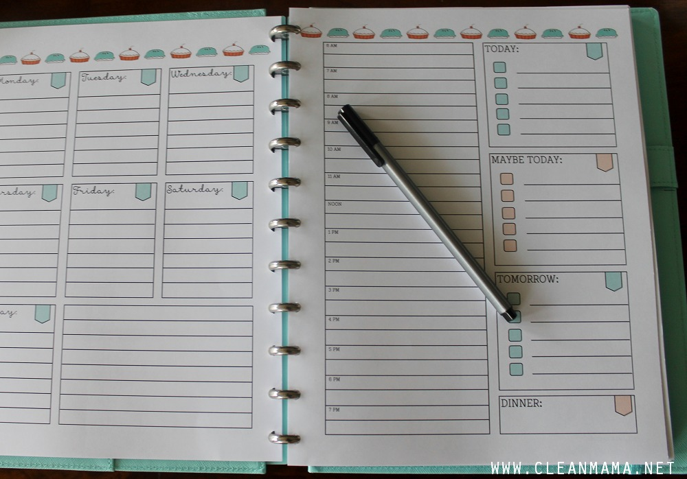 Today and Weekly Planner - September Homekeeping Society via Clean Mama