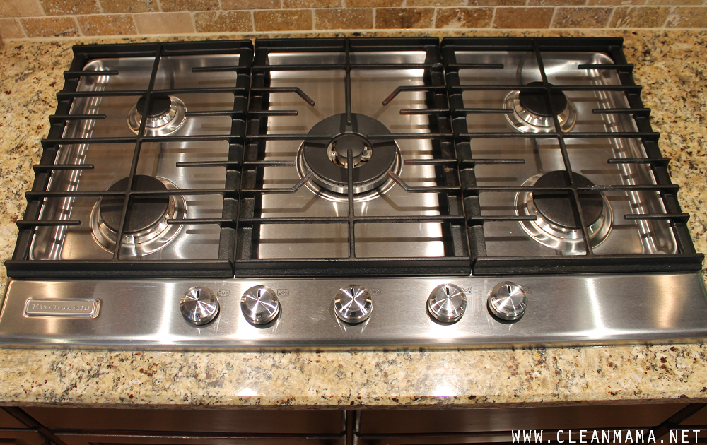 AFTER Gas Cooktop via Clean Mama