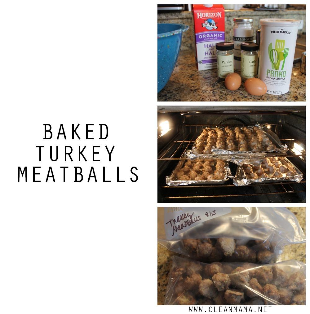 Baked Turkey Meatballs via Clean Mama