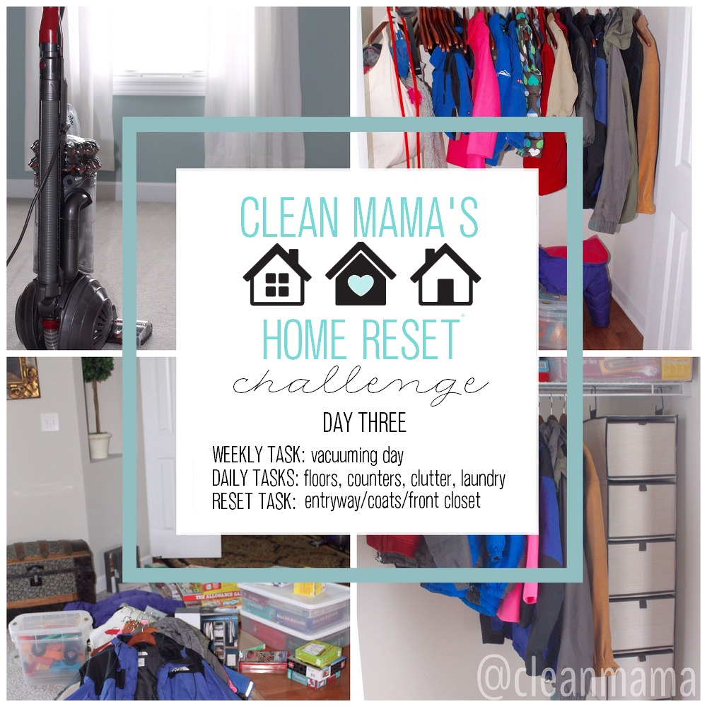 Clean Mama's Home Reset Challenge DAY 3 via Clean Mama