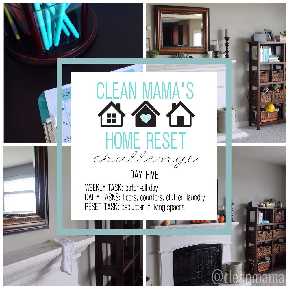 Clean Mama's Home Reset Challenge - DAY 5 via CLEAN MAMA