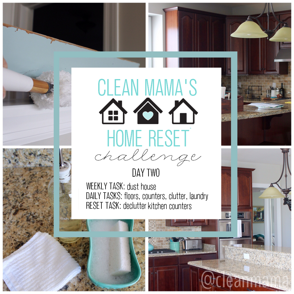 Clean Mama's Home Reset Challenge - DAY TWO