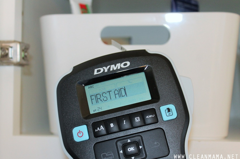 Dymo Label Manager Close-Up via Clean Mama