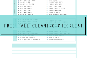 Free Fall Cleaning Checklist Printable via Clean Mama