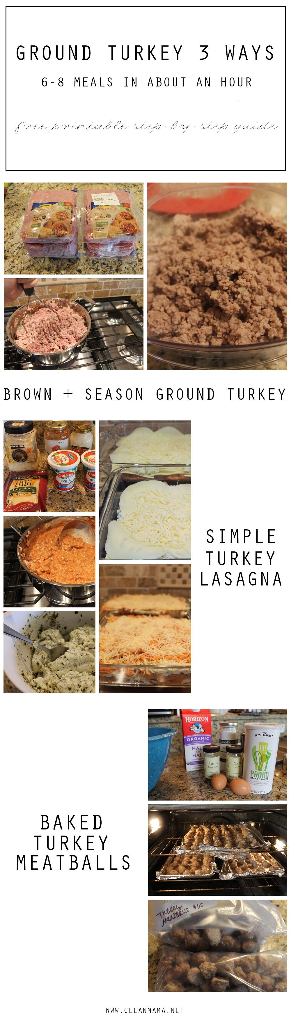 Ground Turkey 3 Ways via Clean mama