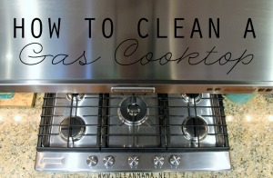 How to Clean a Gas Cooktop via Clean Mama