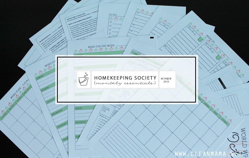 MAIN 2 - October Homekeeping Society via Clean Mama