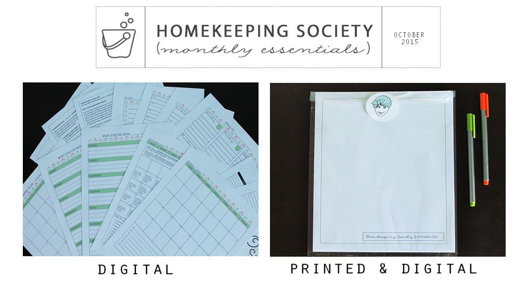 October Homekeeping Society - Digital and Printed for You via Clean Mama