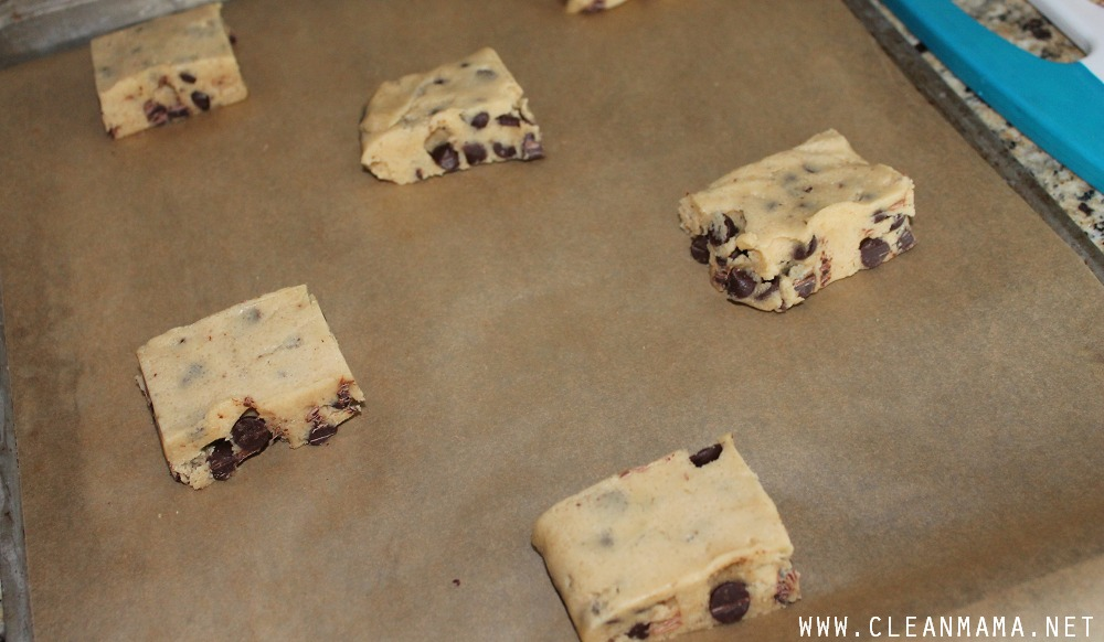 Place Dough On Parchment-Lined Cookie Sheet via Clean Mama