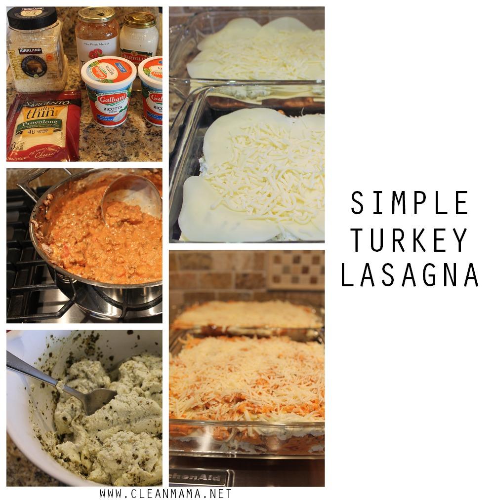 Simple Turkey Lasagna via Clean Mama