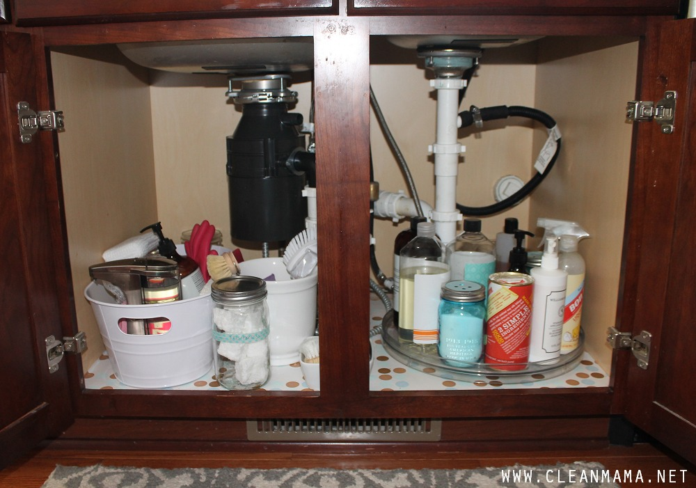Under the Kitchen Sink BEFORE via Clean Mama