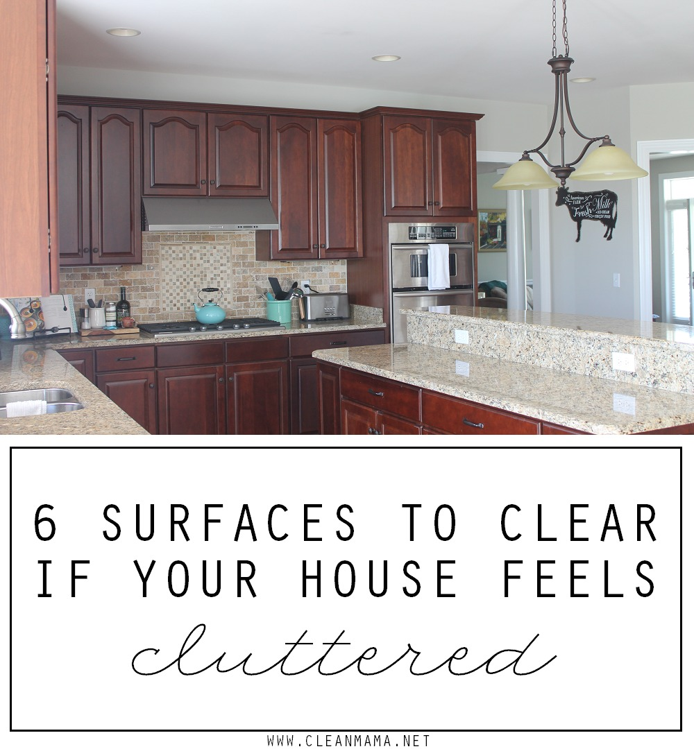6 Surfaces to Clear If Your House Feels Cluttered via Clean Mama