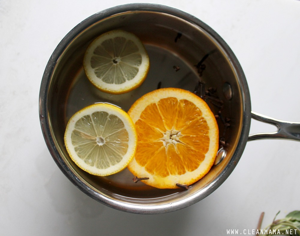 Citrus and Clove Simmer via Clean Mama