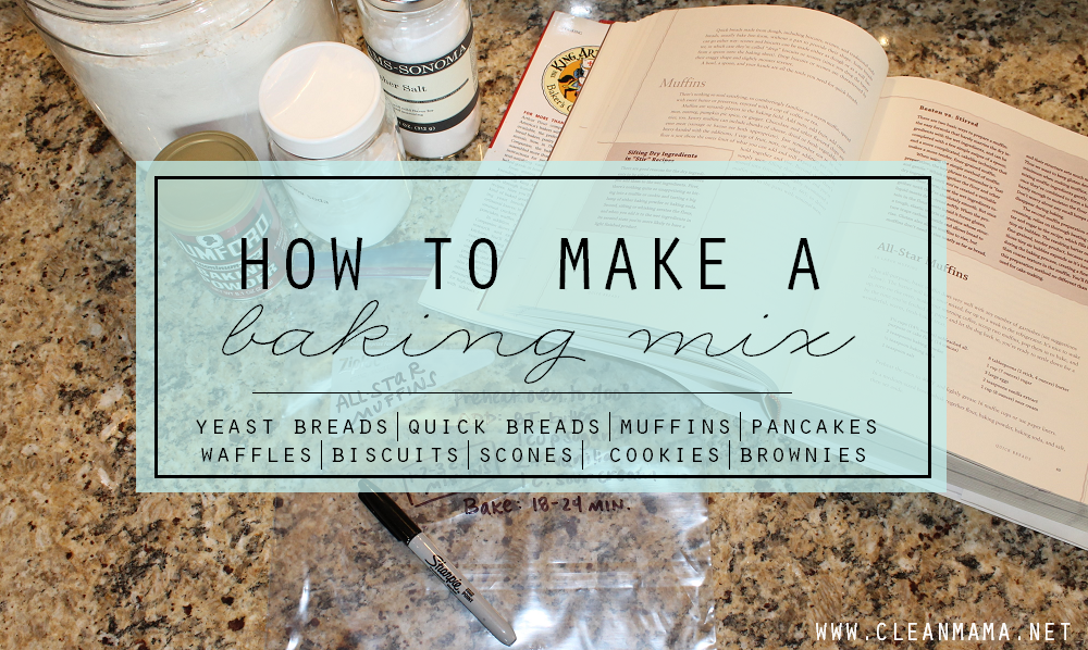 How to Turn a Recipe Into a Baking Mix main via Clean Mama