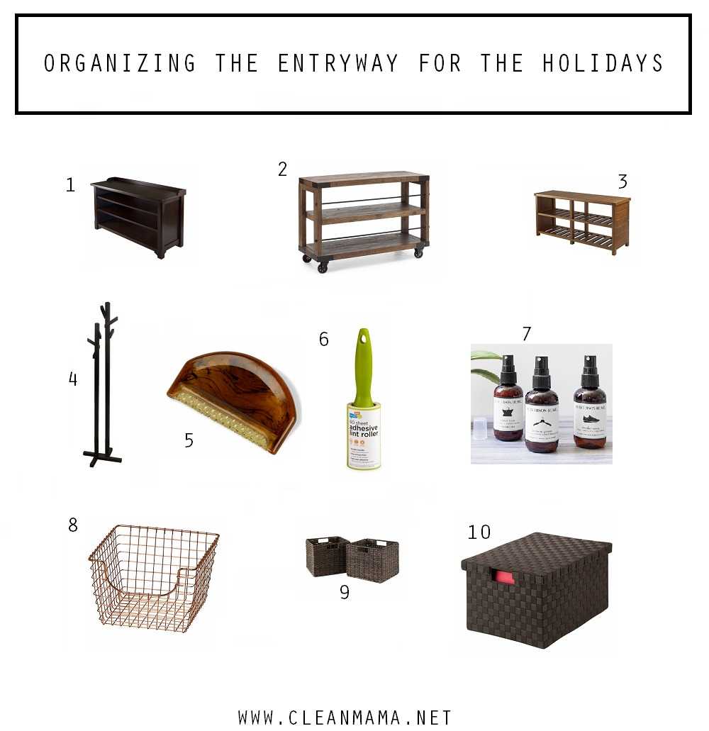 Ideas for Organizing the Entryway via Clean Mama