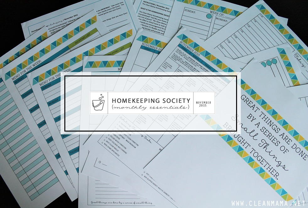November Homekeeping Society COVER via Clean Mama