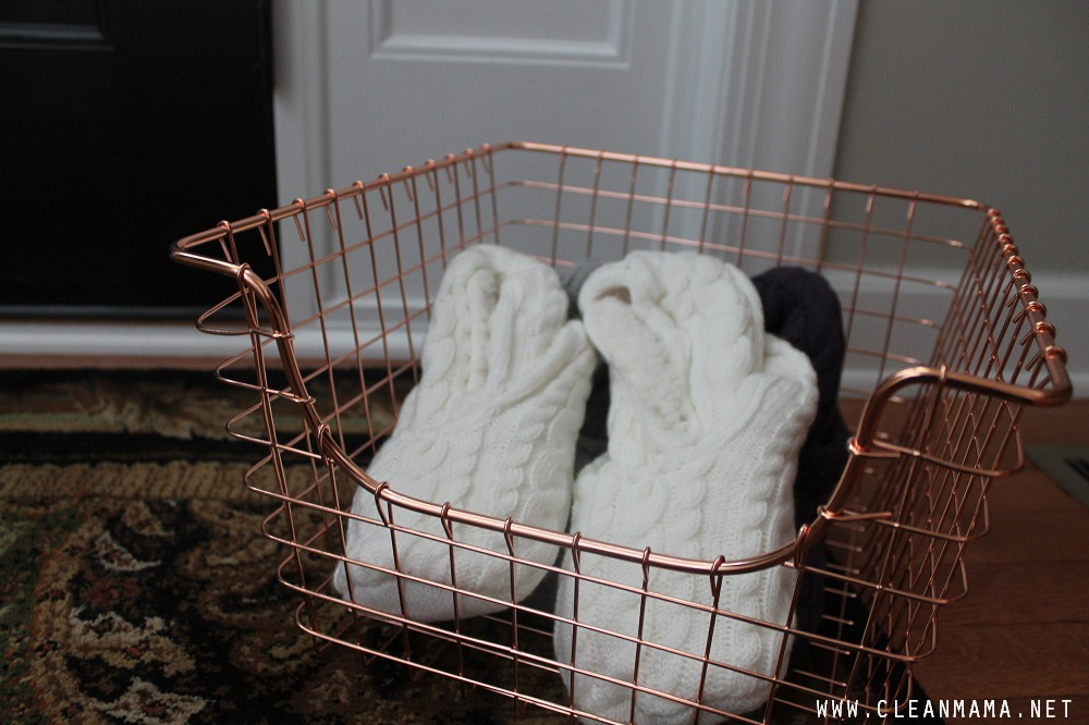 Put Out Slippers for Guests via Clean Mama