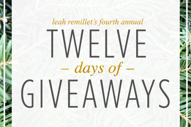 Starts today!  12 Days of Giveaways