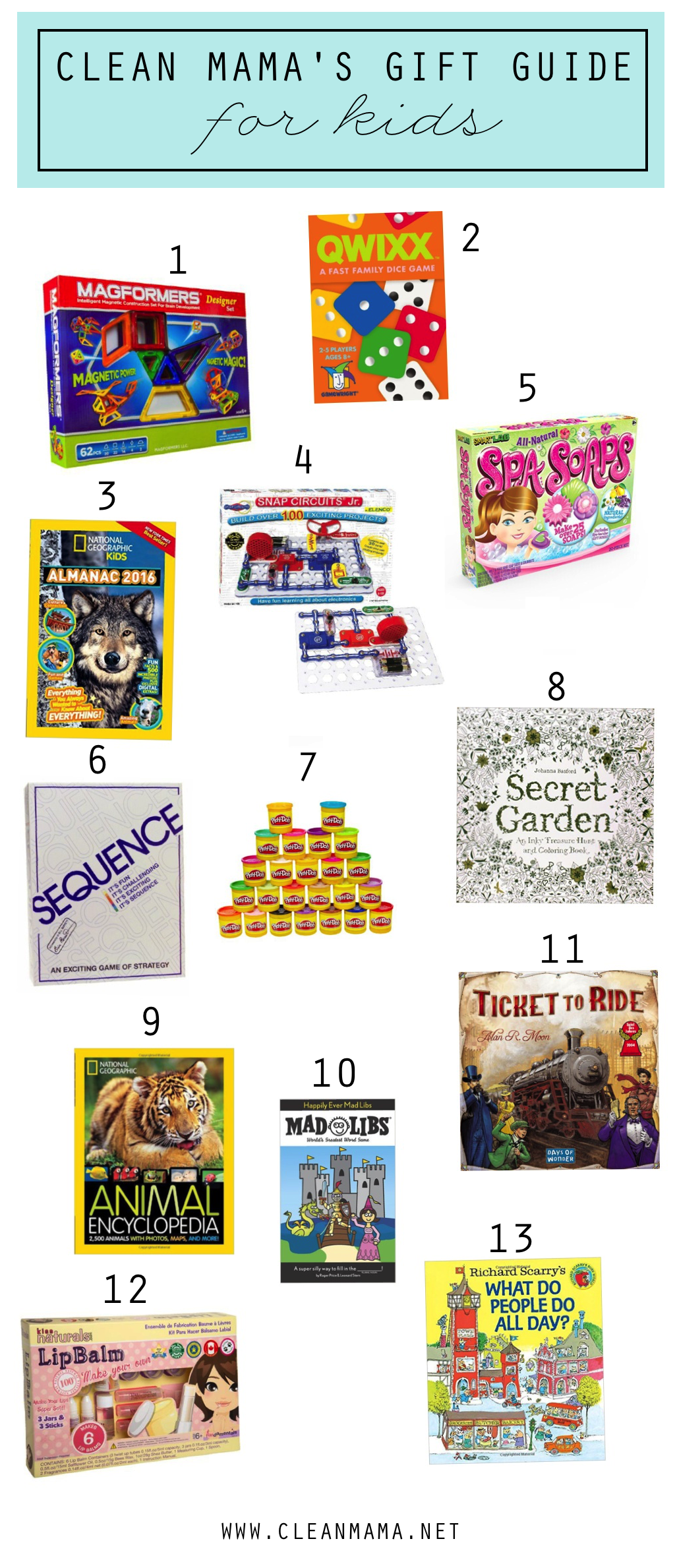 Clean Mama's Gift Guide for Kids