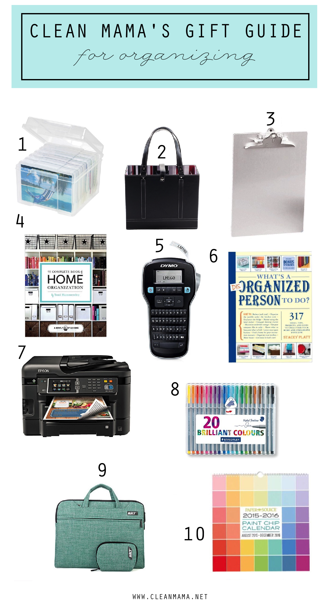 Clean Mama's Gift Guide for Organizing