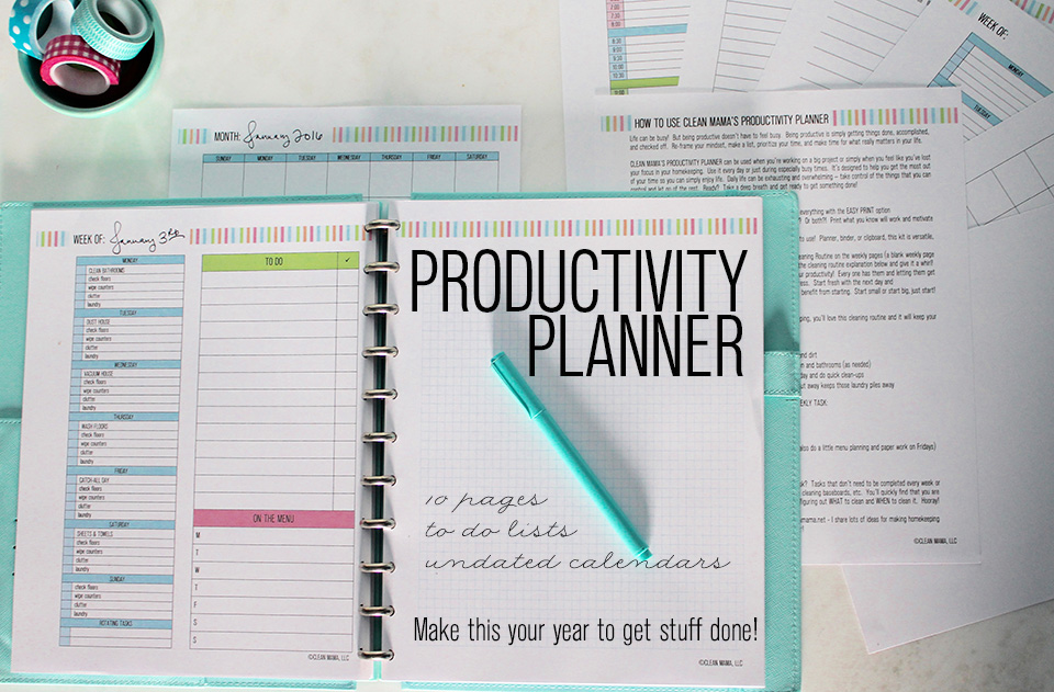 Clean Mama's Productivity Planner