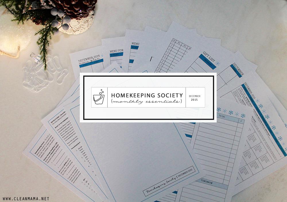 December Homekeeping Society - COVER - Clean Mama