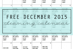 FRESH START Free Cleaning Calendar for December - main - Clean Mama