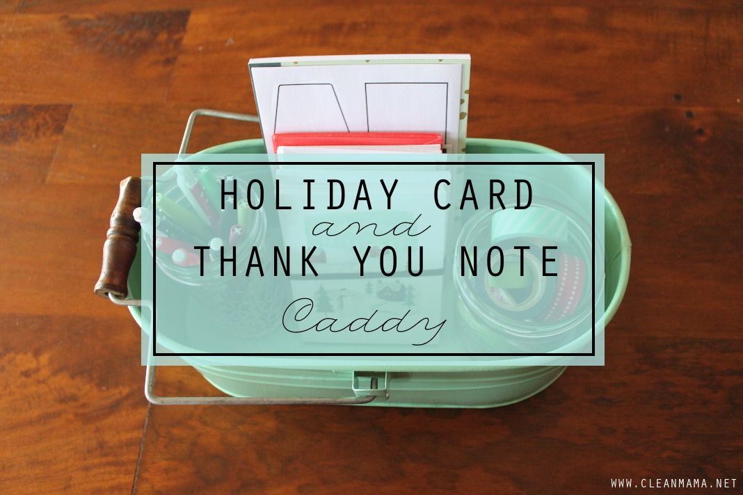 Holiday Card and Thank You Note Caddy - main - CLEAN MAMA
