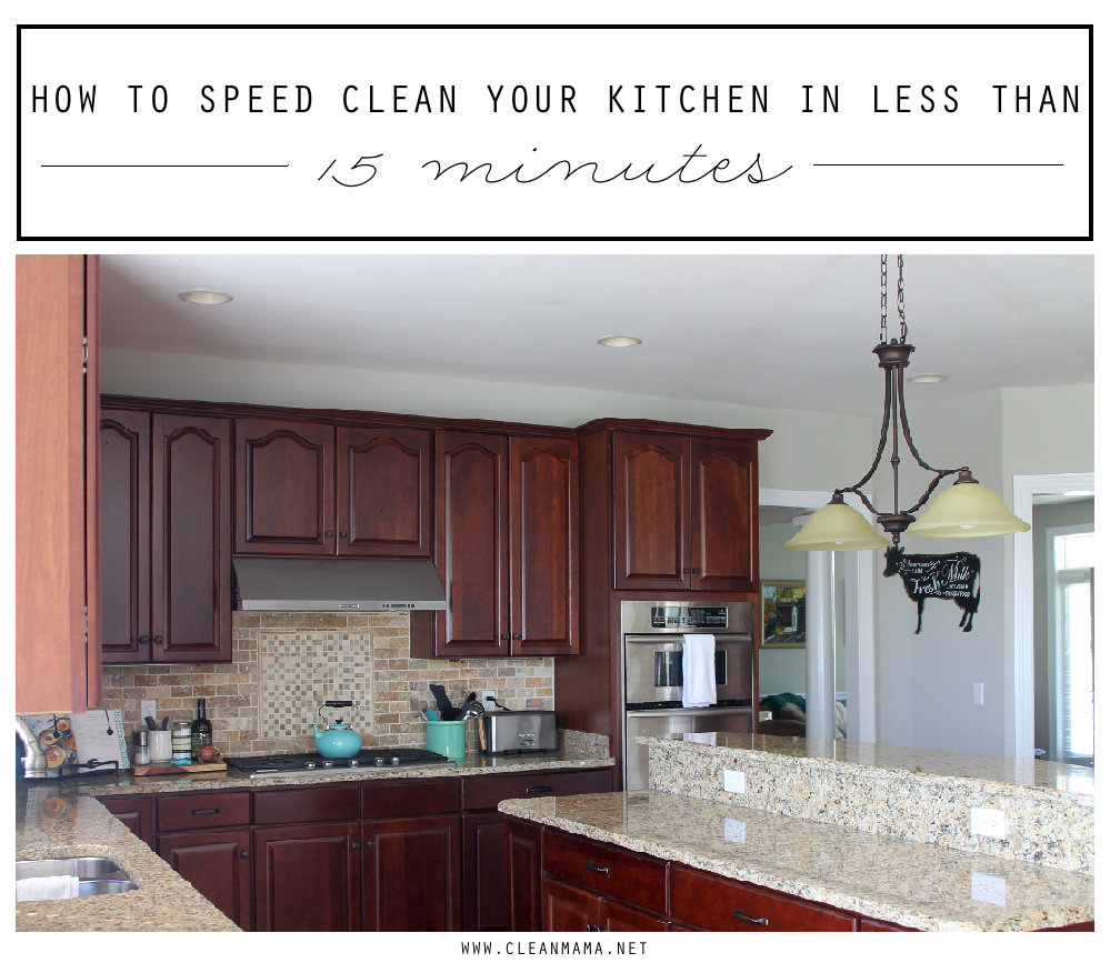 How to Speed Clean Your Kitchen in Less than 15 Minutes + Free Printable via Clean Mama