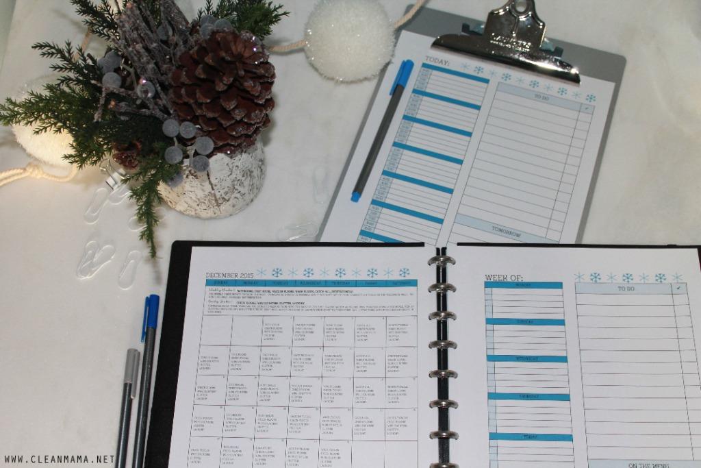 Planner Set Up - December 2015 Homekeeping Society - Clean Mama