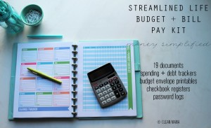 Streamlined Life Budget + Bill Pay Kit - main - Clean Mama