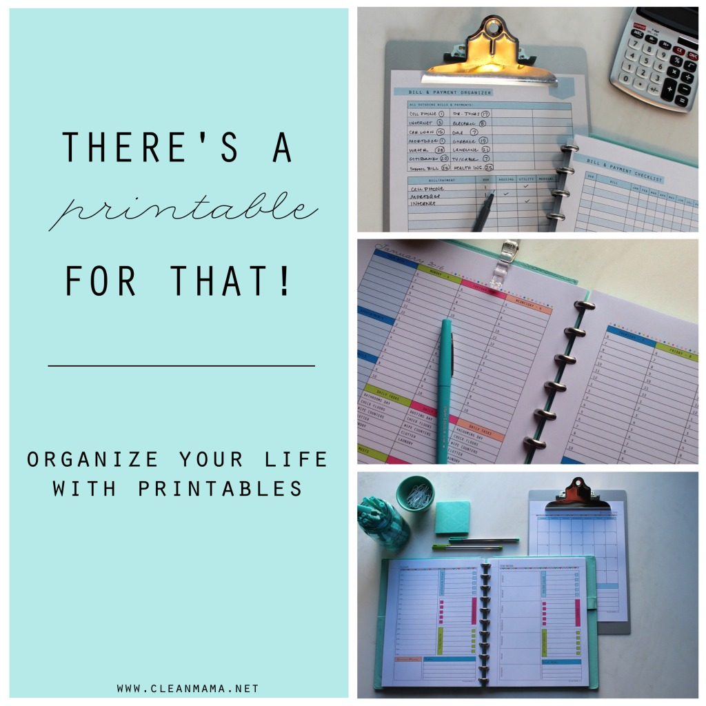 There's a Printable for That! Organize Your Life With Printables