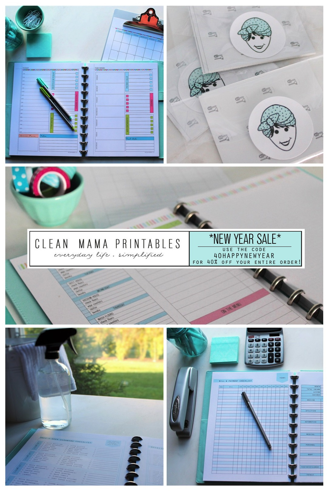 Clean Mama Printables NEW YEAR SALE - Clean Mama