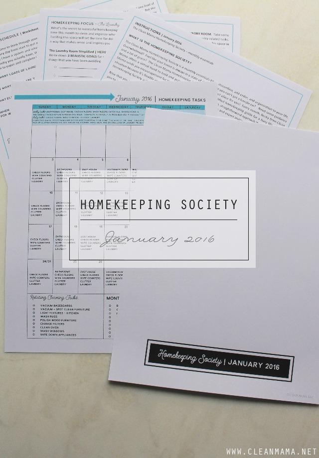 Homekeeping Society main - January 2016 - Clean Mama