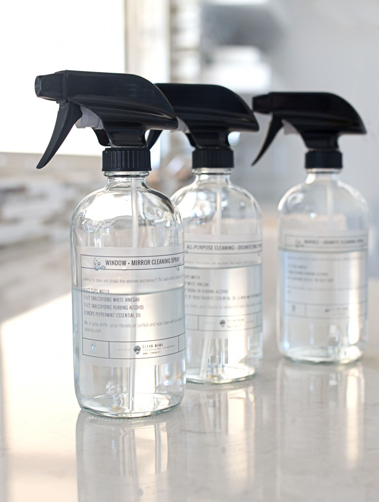 spray bottles with 3 labels - cmh