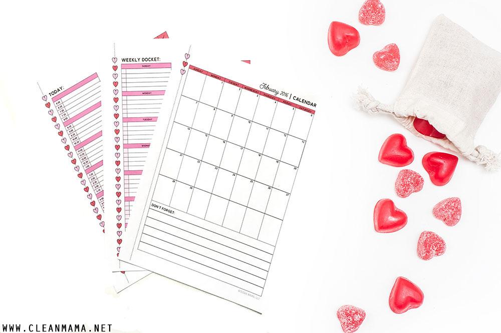 Calendars - February 2016 Homekeeping Society - Clean Mama